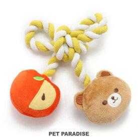 くま りんご ロープ おもちゃ | おうちであそぼう おうち時間 お家遊び 音が鳴る 玩具 TOY 小型犬 かわいい おもしろ インスタ映え