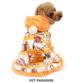 【ポイント10倍】犬 服 秋冬 ディズニー くまのプーさん ブック柄 着る毛布 【小型犬】   ドッグウエア ドッグウェア いぬ イヌ おしゃれ かわいい