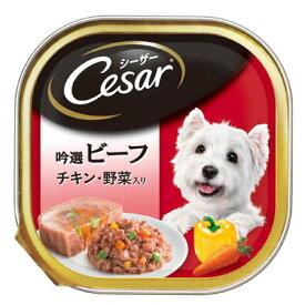 マース シーザー トレイ 吟撰ビーフ チキン・野菜入り 100g