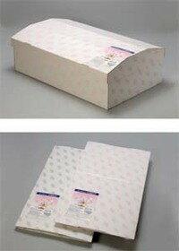 ペットの棺 大型【紙製】【水玉柄】GML(外寸) 約長さ100×幅60×高さ27/33cm