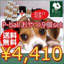 【クーポン】P-ball ピーボール ペットフード ペットおやつ お好きなおやつよりどり9個+おまけ1個!!【犬用 ドッグフード いぬ イヌ ご飯 おやつ えさ...