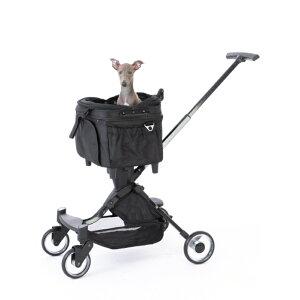 ペットカート ELMO II(エルモツー) 3WAY機能付きペットカート【キャリーカート ペットバギー ペットカート 犬 猫 送料無料 ピッコロカーネ キャリーバッグ キャリーカート ドライブボッ