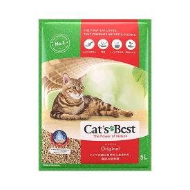 猫砂 キャッツベスト オリジナル 5L 固まる木のネコ砂 4589881840067 【猫 ネコ ねこ 砂 トイレ 檜 ひの木 ひのき ヒノキ トイレ用品 ねこすな ねこずな ファイネスト 植物性猫砂 】