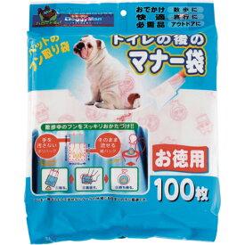 トイレ後のマナー袋 100枚[ドギーマン お散歩グッズ(犬用)] 4976555924633