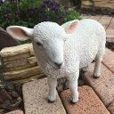 ■ガーデンオブジェ■庭の動物たちお散歩子羊
