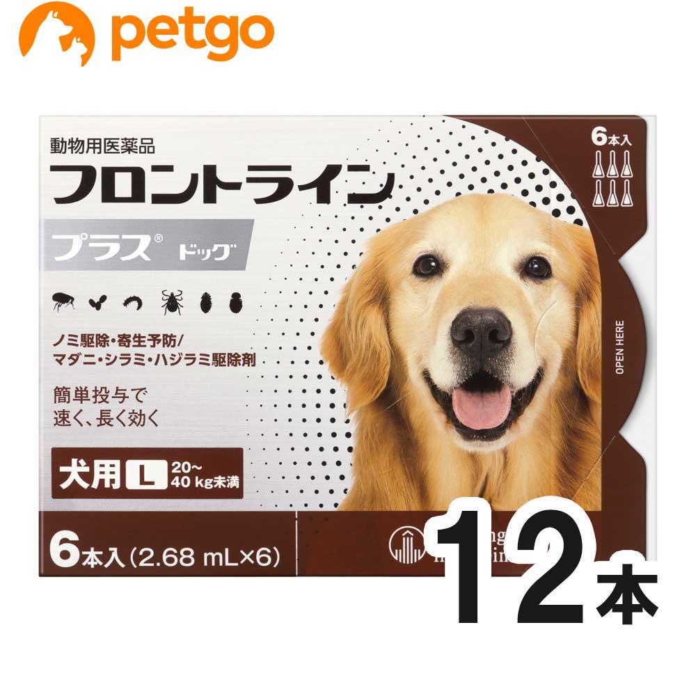 【200円OFFクーポン】【2箱セット】犬用フロントラインプラスドッグL 20kg〜40kg 6本(6ピペット)(動物用医薬品)【あす楽】