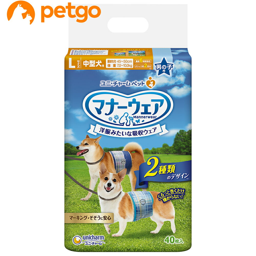 【最大350円オフクーポン】マナーウェア 男の子用 L 中型犬用 40枚入【あす楽】