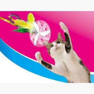 ペティオ ぷろぺらじゃらし グリーンフェザー 猫用おもちゃ じゃらし 猫 ネコ 短毛猫 長毛猫 回転するプロペラとシャカシャカ音でネコちゃん大喜び! Petio