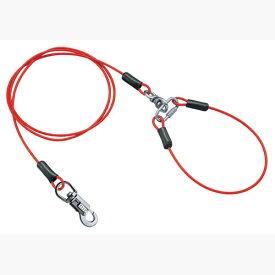 ペティオ タフギア ワイヤーチェーン プラス 3.0mm レッド 赤 鎖 係留 鉄 金属 小型犬 シェルティ パグ等 〜10kg 丈夫さと扱いやすさでペットとの毎日に活躍! Petio
