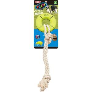 ペティオ PLAY プレイ リングロープ M L 犬用おもちゃ 音が鳴る笛付き 犬 中型犬〜大型犬 短毛犬 長毛犬 どこでもプレイ!運動不足を解消!引っ張って遊ぶ玩具 Petio