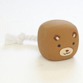 アドメイト Animal Friends アニマルフレンズ キューブトイ くまさん S 犬用おもちゃ 笛付 超小型犬 小型犬 かわいい仲間とのんびりお遊び気分 ロープ付 ピューピュー音が鳴る笛入 かわいい仲間とのんびりお遊び気分 Add.mate