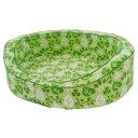ペティオ ニューウォッシャブルベッド 専用カバー M リーフ 緑 犬 猫 イヌ ネコ 洗える ペットベッド 静電気がおきにくいコットン100%生地使用 カバーが洗えていつも清潔 Petio NEW Washable BED