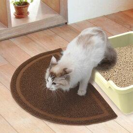 ペティオ necoco ねここ 猫トイレマット ブラウン 茶 トイレタリー マット 猫砂 樹脂 猫 ネコ 短毛猫 長毛猫 足裏についた猫砂を落とす Petio