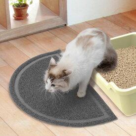 ペティオ necoco ねここ 猫トイレマット グレー 灰 トイレタリー マット 猫砂 樹脂 猫 ネコ 短毛猫 長毛猫 足裏についた猫砂を落とす Petio