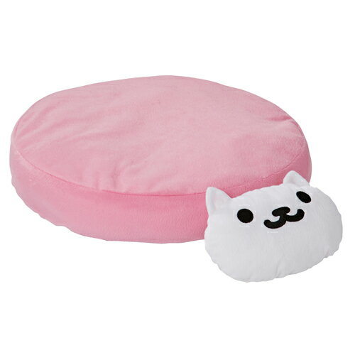Petio(ペティオ) ねこあつめ あごまくら付 クッション(ピンク) しろねこさん 猫用
