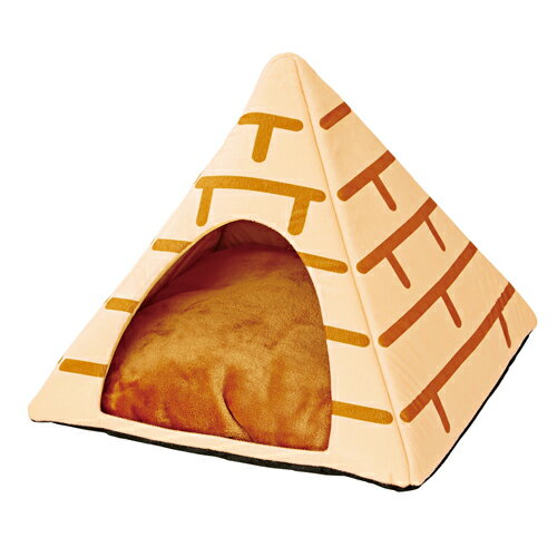 [ポイント5倍]ペティオ ねこあつめ ベッド仕様 テント ピラミッド 猫用 ベッド ポリエステル 短毛 長毛 ねこあつめの世界に仲間入り あのテントピラミッドで寝られる 中はふかふかであったか これなら寒さも関係ない? 手洗いOK コード通し穴付 Petio