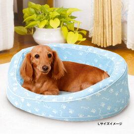 NEWWashableBEDニューウォッシャブルベッド専用カバーLドットブラウン犬猫イヌネコ洗えるペットベッド静電気がおきにくいコットン100%生地使用カバーが洗えていつも清潔