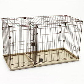 PMJ ツールーム ドッグサークル 室内 全犬種 金属 横スライドドア トイレ側ドアは大きく開きワンちゃんの出入りやシーツ交換ラクラク 2つのスペースに分ける仕切りドアでトイレの場所を覚えやすい セカンドドア 取り出せる トイレトレー形状 Petio