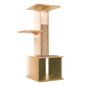 ペティオ necoco スリムで壁ぎわに置きやすい キャットリビングタワー ナチュラル 猫用タワー おもちゃ キャットタワー 猫 ネコ 短毛猫 長毛猫 新しいカタチのおしゃれな猫タワー Petio