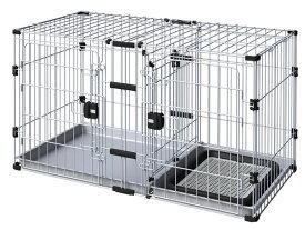 アドメイト ヴィラフォート 2ルームパピーサークル 子犬用 サークル 室内 金属 犬 トイレスペースと住居スペースが分かれているので、トイレのしつけにぴったりなパピーサークル! Add.mate