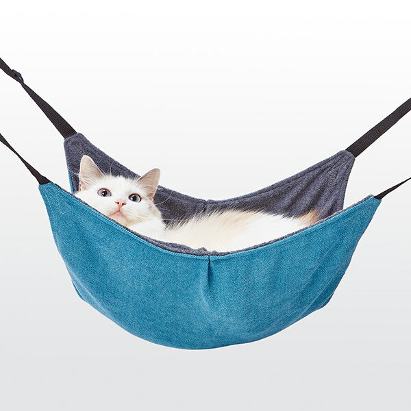 アドメイト 包まれにゃんモック ターコイズ ハンモック 本体 全猫種 ねこ ネコ 〜8kg Add.Mate