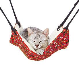 ペティオ 猫小町 にゃんモック ハンモック 小花 猫 ネコ 短毛猫・長毛猫 〜10kg イスやキャットサークル・ケージに取付けられる Petio