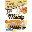 ペティオ Meaty ミーティ ササミ 10本入 鶏 チキン ササミ レトルト 犬用おやつ 添加物不使用 ササミ成形品 全犬種 Petio