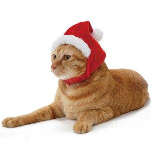ペティオ クリスマス ネコ用変身ほっかむり サンタ 短毛猫・長毛猫 アクセサリー コスプレ Petio