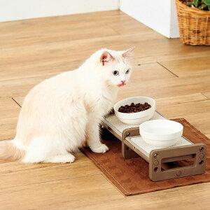 ペティオ 高さも角度も変えられる 猫用 食事台 全猫種 短毛 長毛 ネコ 食器 樹脂 Petio
