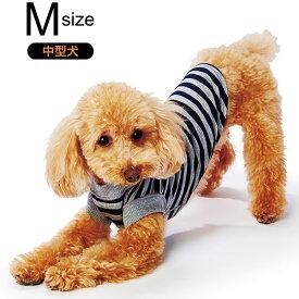 ペティオ E-Stretch スキンTシャツ ダークブルーボーダー M 中型犬 短毛 長毛 イヌ アパレル ウェア Petio