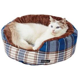 ペティオ necoco ネココ クッション付 ふんわりあったか包み込みベッド チェックブルー 全年齢 全猫種 短毛 長毛 秋冬春用 Petio