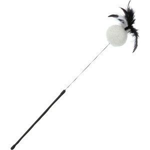 ペティオ 猫用おもちゃ necoco ネココ BLACK TACT 猫じゃらし ボールフェザー 猫用おもちゃ オールステージ 全猫種 短毛猫・長毛猫 玩具 じゃらし Petio