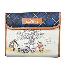 ディズニー 母子手帳ケース ジャバラタイプ Disney Winnie the Pooh マルチケース くまのプーさん ブルーチェック 通帳入れ カードケース Pooh メール便OK 【あす楽】
