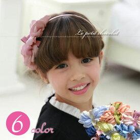 985eca3f31ff9 カチューシャ ヘアアクセサリー 子供 女の子 キッズ 発表会 結婚式 6色 花 フラワー リボン かわいい