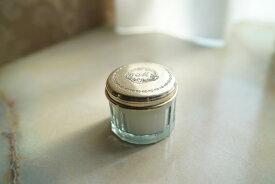 GC ガラスBOXキャンドル(イニシャルM) アンティーク風 ハンドメイド フレンチテイスト インテリア キャンドル ガラス 真鍮