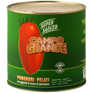 【New】【キャンセル・返品不可】カンポグランデ ポモドーリ・ペラーティ ホールトマト缶 トマトソース 2500g トマト缶