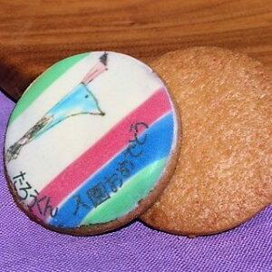 アイシングクッキー 内祝い 入園入学 オリジナル文字入りプリント 名入れ対応 文字色5色から選べます(赤、青、オレンジ、緑、黒)30枚以上ご注文のお客様はお得です