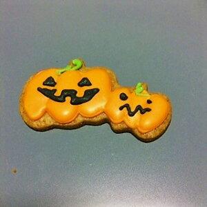 HappyHalloween アイシングクッキー カボチャ 4cm x 7cm