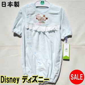ディズニー 日本製ベビー (サイズ50〜60) ドレス&カバーオール パイル生地 ミッキー ミニー ブルー 33110567180