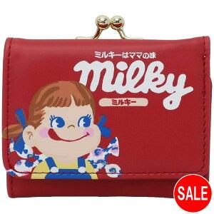 ペコちゃん 三つ折り コンパクト財布 ミニウォレット(ミルキー)PKSR-060