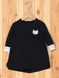 [Rakuten Fashion](K)スウェットワンピース PETIT BATEAU プチバトー ワンピース キッズワンピース ネイビー【送料無料】