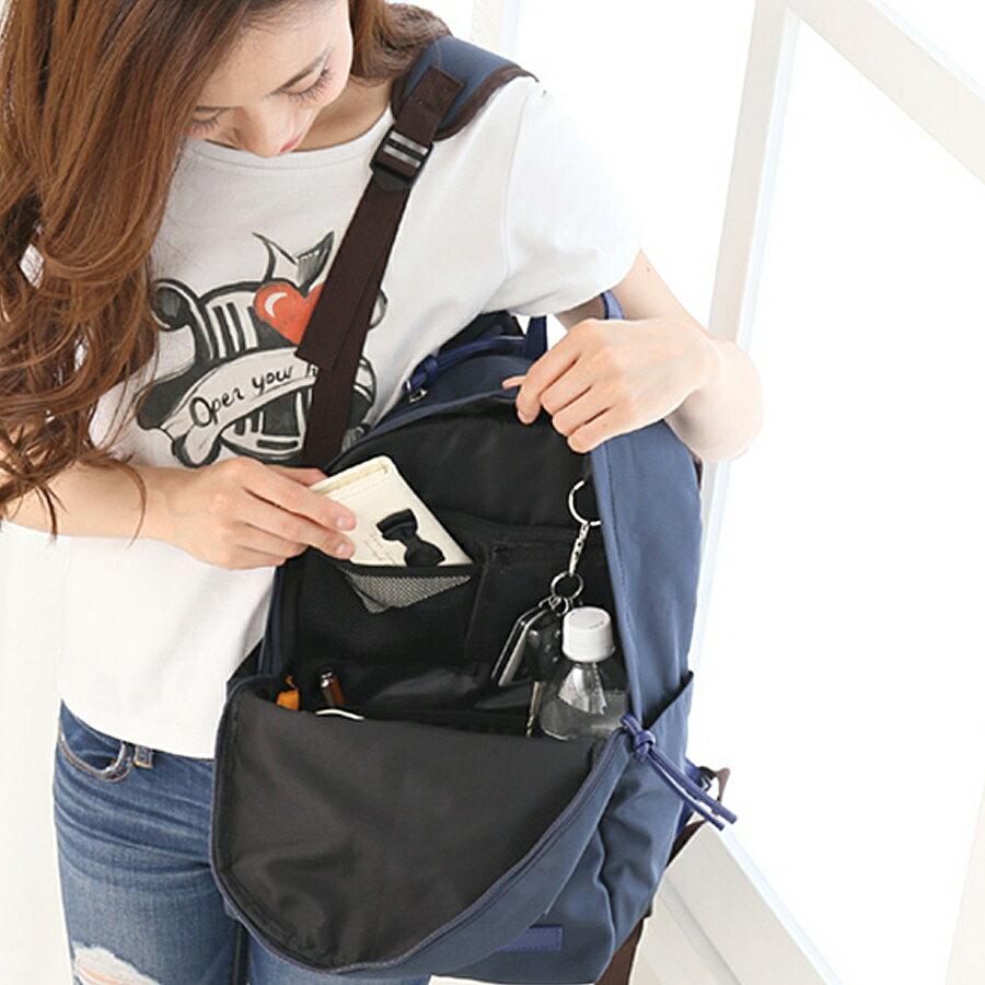 リュックインバッグ 収納 整理 整頓 仕分け ポケット バッグインバッグ インナーバッグ リュックインナーバッグ (rs-bag-342) A4サイズまですっぽりのポケットで、書類もキレイに収納♪
