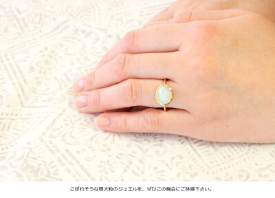 K10/K18リング/8×10カラーストーンオパールミルキーアクアロンドンブルトパカルセドニーローズクォーツムーンストーンクリソプレーズカーネリアン大粒指輪イエローゴールドピンクゴールドホワイトゴールド