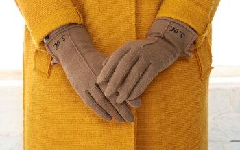 送料無料!日本製生地、日本縫製のカシミヤ100%手袋/カシミア/ラビットファー/刺繍/オーダー/ネーム/イニシャル/女性/<スマホ手袋レディーススマホ対応誕生日プレゼント女友達ギフト手袋レディース暖かいgiftpresentladies>