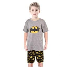 8bd5759e69158d キッズ 子ども パジャマ 男の子 女の子 キャラクター バットマン 上下セット 2点セット 夏 涼しい 綿 コットン