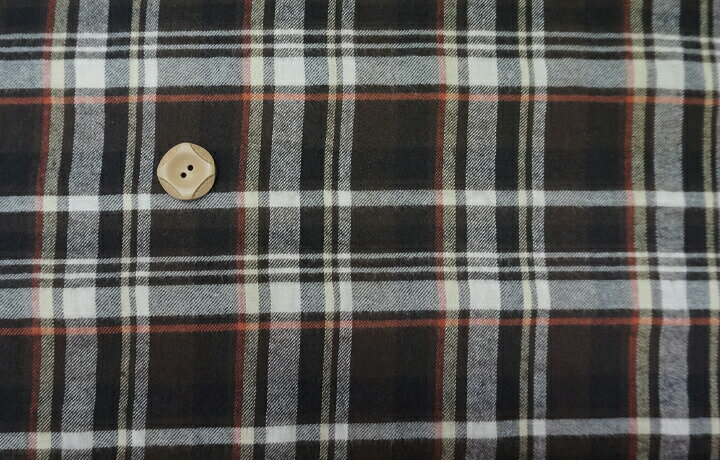 ツイル チェック シャーリングチェック ブラウン 薄手で柔らか シャーリング チェック 綿 コットン 薄手 生地 布 プチファボリ