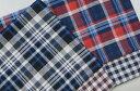優しい肌触り綾織りチェックとガーゼギンガムのリバーシブル播州織先染ダブルガーゼ