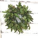 【ヤドリギリース】【宿り木】【生花】スタッフが編みこんだ本物の生花 手作りリース!クリスマスに!リース玄関/ご…