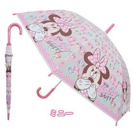 【アフターセール】【T4】【DISNEY】【MINNIE】ミニー ジャンプ傘2 キッズ55cm【キャラクター傘】【1709】【700-800-1000】