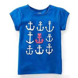 カーターズ Carter's ベビー 半袖 コットンTシャツ 12m 24m 75cm 85cm いかりアップリケ ブルー 男の子 女の子